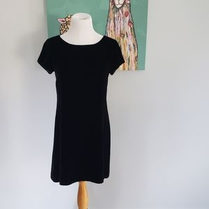 Tweeds Black Velvet Shirt Dress 4P